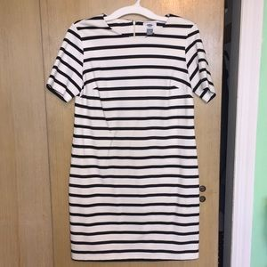 Black and White Striped Old Navy Sheath Dress